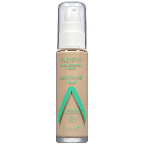 Almay Clear Complexion Make Myself Clear Makeup, Buff, 1 Fl. Oz., acne treatment foundation (200)