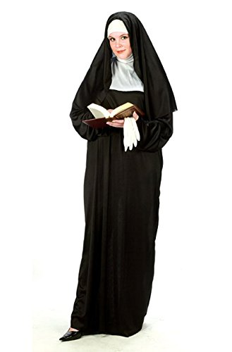 Nun Plus Size (Plus Size) One Size Fits Most 16W to (Women's Size 24 Halloween Costumes)