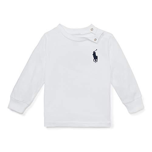 - Polo Ralph Lauren Baby Boy's Big Pony Cotton Crewneck Tee, 24 Months, White