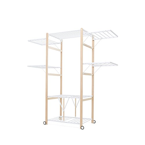 Foppapedretti 9900424203 Myhome Peter Cloths Airer, Folding, Ideal for Bedding and Table, Natural