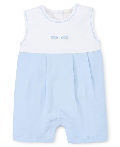 - Kissy Kissy Baby-Boys Infant Scattered Toys Embroidered Sleeveless Short Playsuit-White with Blue-9 Months