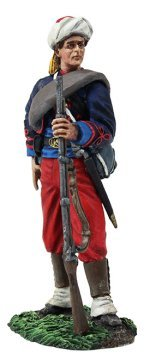 W. Britain 31263 Federal Infantry 114th Pennsylvania Zouaves Reaching for Cartridge (Federal Cartridge)