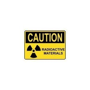 "Caution Radioactive Material Only Sticker, 10"" x 7"""