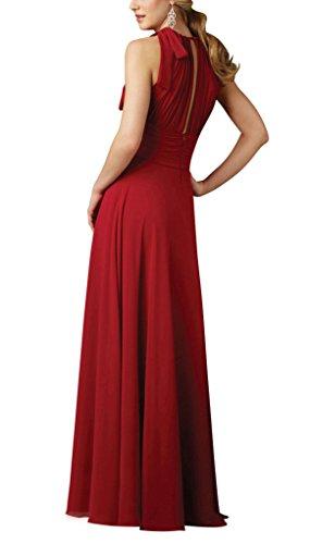 GEORGE BRIDE Edel und elegant retro eleganten roten Chiffon Halter ...