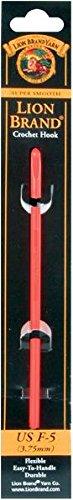 Lion Brand Yarn 400-5-5007 Crochet Hook, Size F5/3.75mm, Red