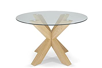 Serene Furnishings Ltd Kimora 120cm Round Clear Tempered Glass Top