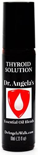 Dr. Angela Walk Thyroid Solution Essential Oil Blend | Therapeutic Grade | Natural Thyroid Support Roll-On Bottle 10ml (.33 fl oz)