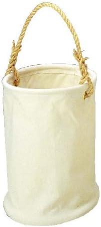 コヅチ(KOZUCHI) 6号帆布 電工用バケツ ホワイト 直径24×高さ24cm KB-01-24 W