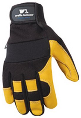 Wells Lamont Work Gloves with Grain Deerskin, Microlar 3, Spandex Back, G80 Thinsulate