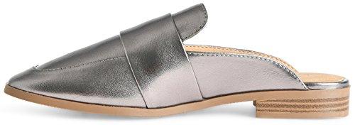 LUSTHAVE Frauen Gold Plated Slide On Slip auf Mule Loafer Wohnungen Schuhe Rotguss *