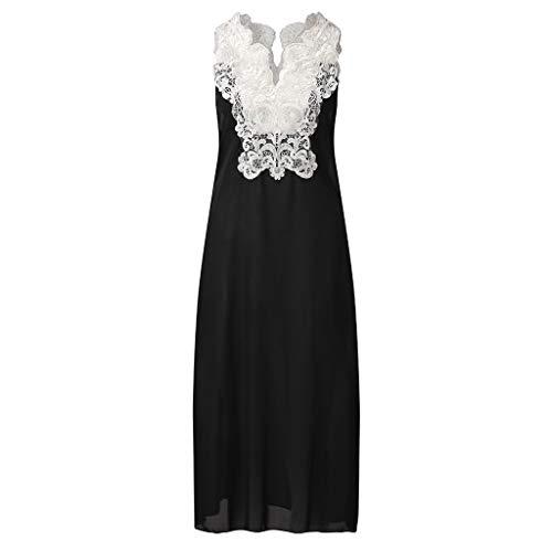 iLOOSKR Dresses for Women Plus Size Womens Sleeveless Stylish Chiffon with Belt V-Neck Printed Floral Maxi Dress ()