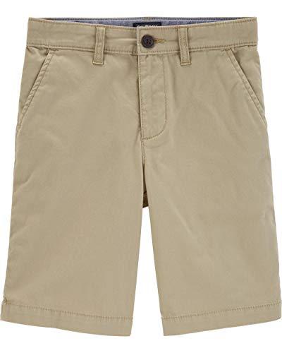 Osh Kosh Boys' Little Stretch Flat Front Short, Explorer Khaki, 6 ()