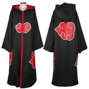 Naruto Itachi Uchiha Akatsuki Cloak Hood Cosplay Costume S Set
