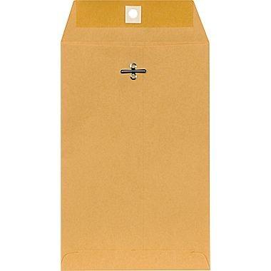 "Staples 6"" x 9"" Brown Kraft Clasp Envelopes, 100/Box"