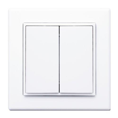 Leviton WSS0S-E2W 3 by 3 Dual Rocker Switch, White