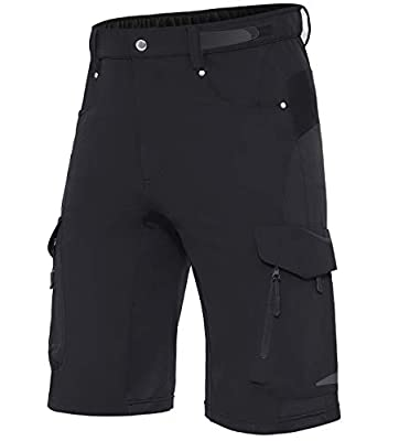 XKTTAC Men's Outdoor Quick Dry Lightweight Stretchy Shorts for Hiking, Camping, Travel with 6 Pockets