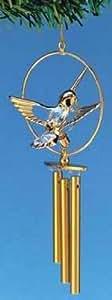 Gold and Crystal Hummingbird Windchime