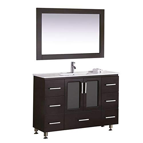 Modern Bathroom Espresso Vanity (Design Element Stanton Single Drop-In Sink Vanity Set with Espresso Finish, 48-Inch)