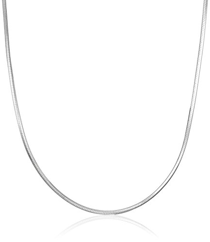 Sterling Silver Italian 0.8 mm Diamond Cut Snake Chain Necklace, 16