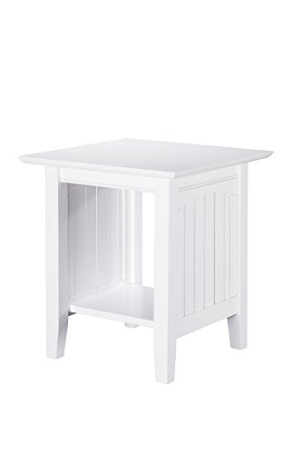Atlantic Furniture AH14302 Nantucket End Table, White (Style Furniture Nantucket)