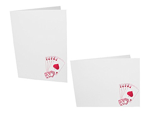 - Casino red foil on white cardboard photo folder frame Our price is for 50 units - 4x6