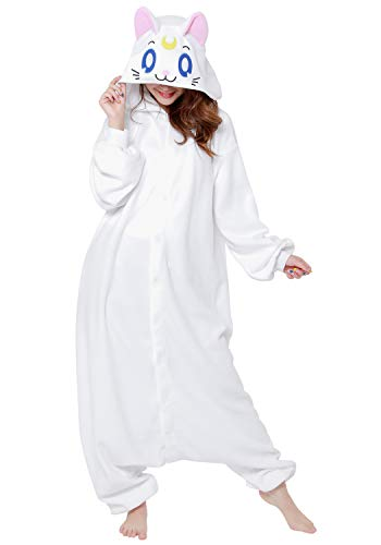 SAZAC Kigurumi - Sailor Moon - Artemis - Onesie Halloween Costume - Adult One Size Fits All -