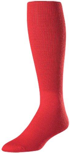 サッカーソックス – リブ編みTurn Down Top Twin City Sock B008K9QJ1M Adult (10-13)|レッド(Scarlet Red) レッド(Scarlet Red) Adult (10-13)