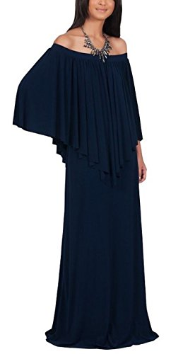 - sekitoba-japan.inc Long Strapless Shoulderless Maxi Dress for Women Flattering Cocktail Gown (X Large, Navy)