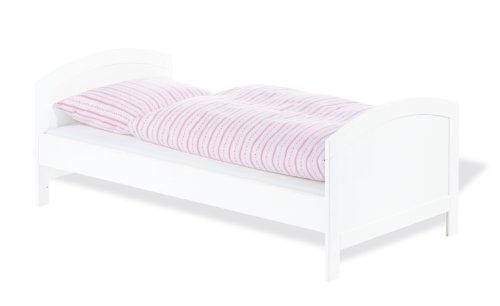 - mit 3 Schlupfsprossen 110025 wei/ß lackiert Pinolino 140 x 70 cm Kinderbett Laura teilmassiv Kiefer