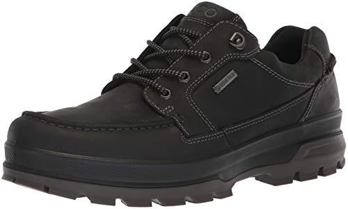 ECCO Men's Rugged Track Gore-TEX Moc Tie Hiking Shoe, Black, 46 M EU (12-12.5 - Oiled Tie Nubuck