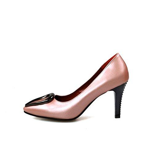 Del Vestir Eur Puntiagudo Tacón 4 Pink Zapatos Fiesta uk eur35uk3 Blanco Zapatillas Dedo 3 36 Mujeres Corte Estilete 5 Señoras Nvxie Rojo Boda Alto Pie ITFPaa