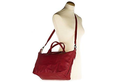 Longchamp Borsa A Mano In Pelle Borsa Da Donna Rossa