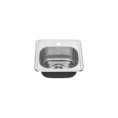 American Standard 22SB.6151511S.075 Colony Top Mount ADA 15x15 Single Bowl Stainless Steel 1-hole Kitchen Sink,