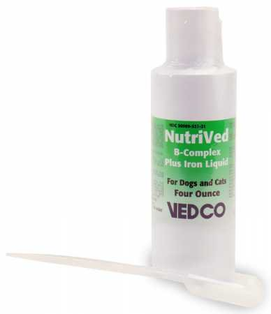 Vedco NutriVed B Complex Plus Iron Liquid (4 oz.) - incensecentral.us