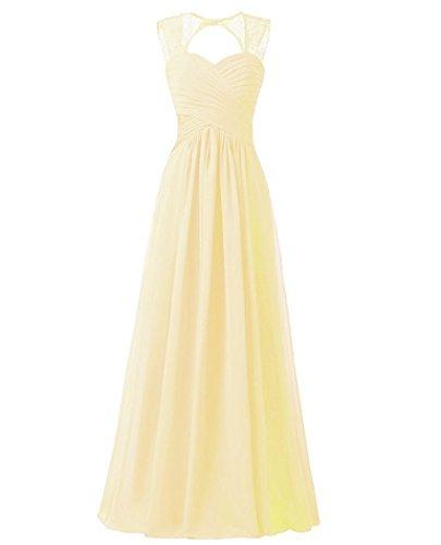 Brautjungfernkleider Champagner Damen Party Abendkleider Cocktail Chiffon Hochzeitskleid Beonddress Lang Ballkleid qfxSFRRw