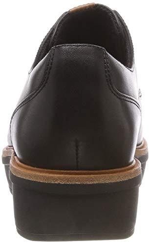 Brouge Donna Clarks Teadale Scarpe black Rhea Stringate Nero Leather 1wWI4HWq