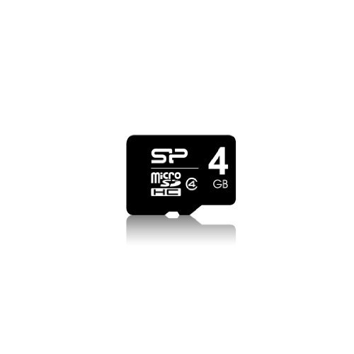 Silicon Power 4 GB microSDHC Class 4 Flash Memory Card with SD Adapter SP004GBSTH004V10-SP by Silicon Power (Image #1)