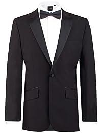 Mens Black Tuxedo Dinner Jacket Slim Fit Peak Lapel