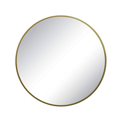 Round Decorative Wall Mirror Brass - Project -