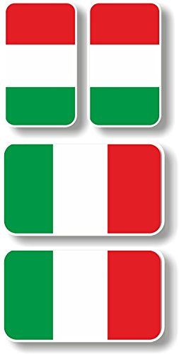 - Vinyl sticker/decal Extra small 45mm & 35mm Italy flags - group of 4