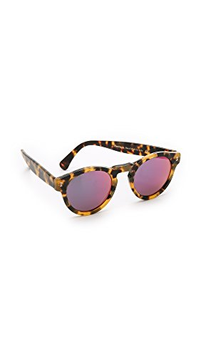 Illesteva Women's Leonard Mirrored Sunglasses, Tortoise/Pink, One - Illesteva Sunglasses Leonard