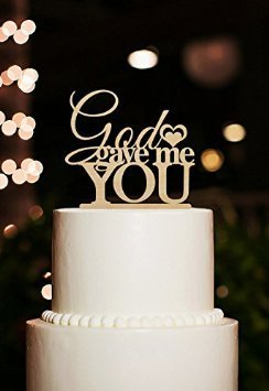 Amazoncom God Gave Me You Rustic Wedding Cake Toppers Kitchen