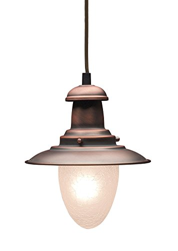 ELK Lighting - 010-AC Railroad 1-Light Pendant In Antique Copper