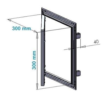 Trappe de r/évision 300 x 300 mm en pl/âtre de 12,5 mm Force 10 porte de r/évision de 30 x 30 cm