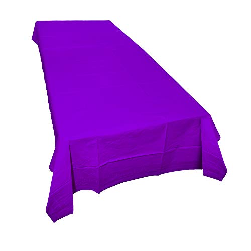 SparkSettings Disposable Table Cover Absorbent Classy Paper Table Cover Picnic Party Graduation Table Covers Perfect for Casual or Elegant Events - New Purple,