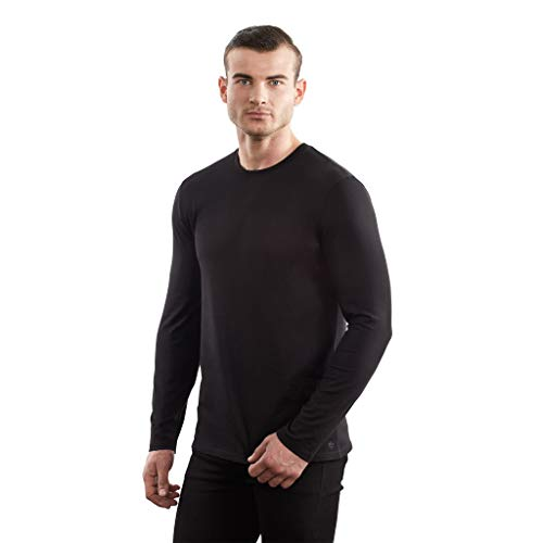 TRUTH ALONE Men's Long Sleeve Crew Tee, 100% Organic Peruvian Pima Cotton ()