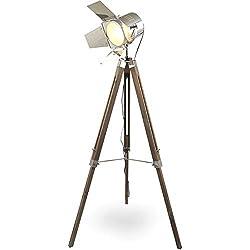 mojoliving MOJO® Stehleuchte Tripod Lampe Dreifuss Urban Design höhenverstellbar mq-l37