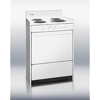 summit wem610 kitchen electric cooking range white