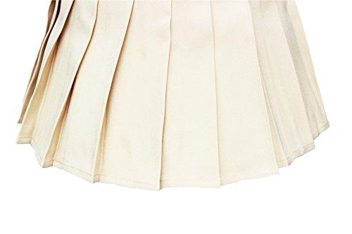Pour Khaki Femme Haute Single layer Tennis Jupe Plissée Taille WE9e2IYbDH