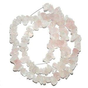 NG1724 Light Pink Rose Quartz Medium 6mm - 9mm Nugget Chip Gemstone Beads 16